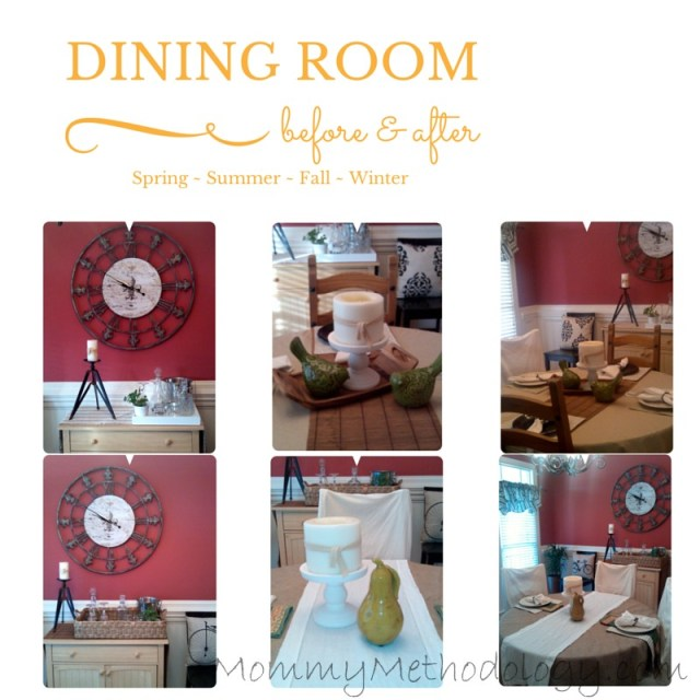 Dining Room before & after thumbnails