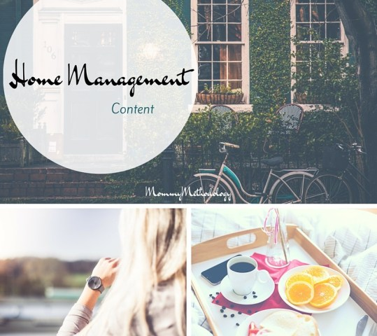 Home Management Content
