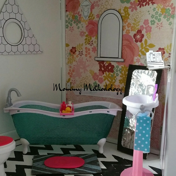 Dollhouse Bathroom Furnished