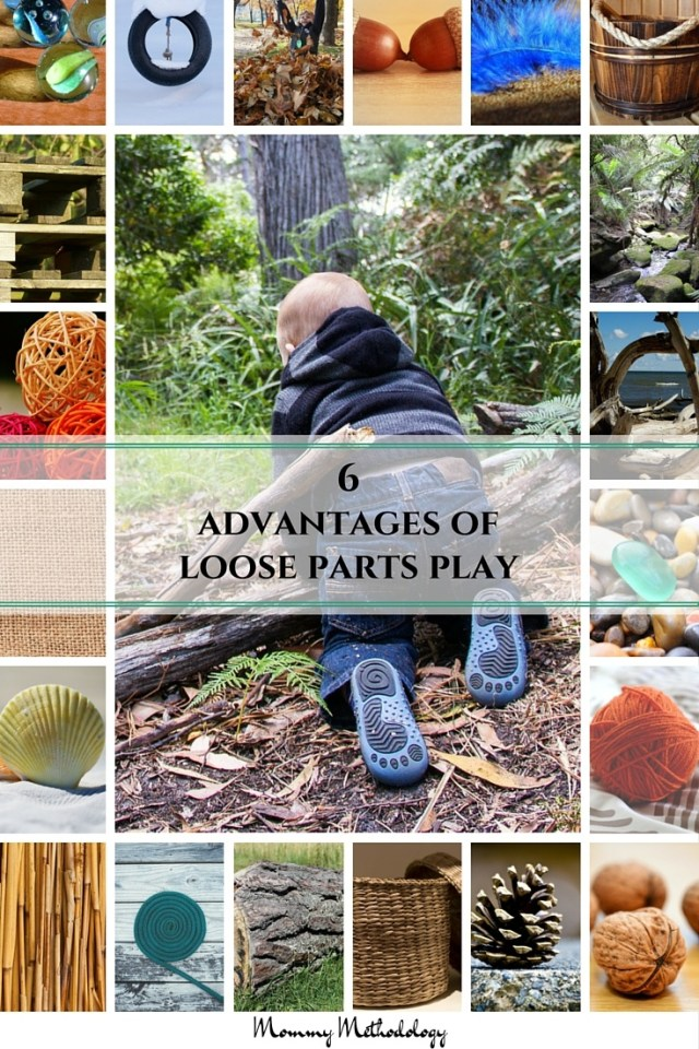 6 Advantages of Loose Parts Play | Loose Parts Play What Is It? Why is it important? See list of loose parts and 6 advantages. You'll want to engage in loose parts play after reading this!