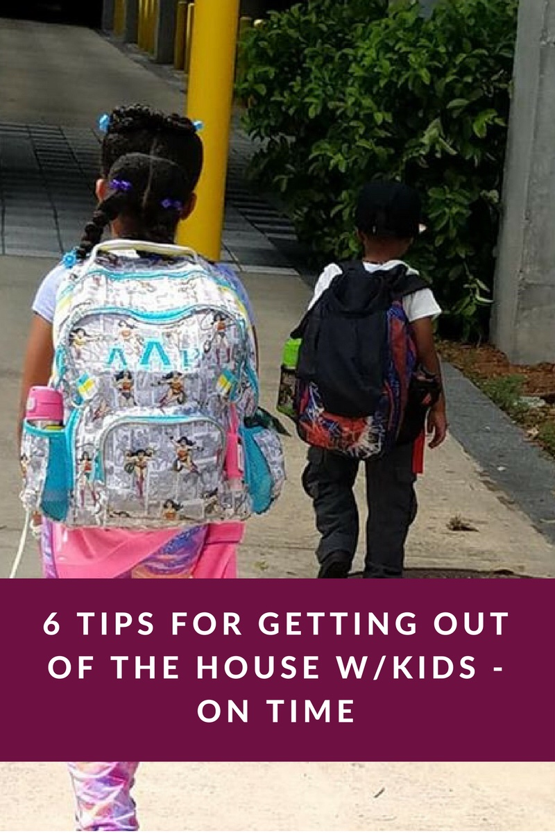 Children walking, Getting out of the house on time.