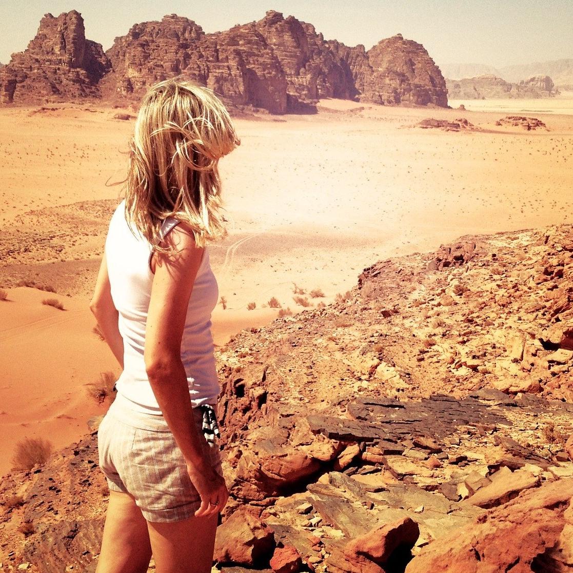 Mommy Mo in the desert