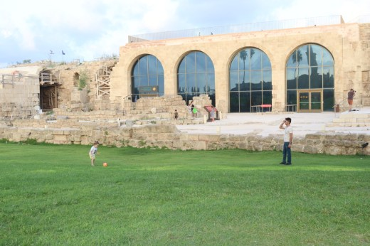 Caesarea National Park grass area