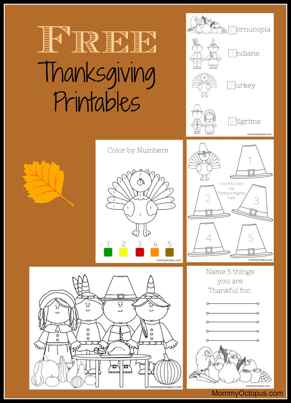 medium resolution of Free Thanksgiving Printable Activity Sheets! - Mommy Octopus