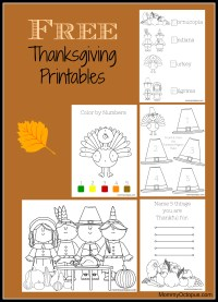 Free Thanksgiving Printable Activity Sheets! - Mommy Octopus
