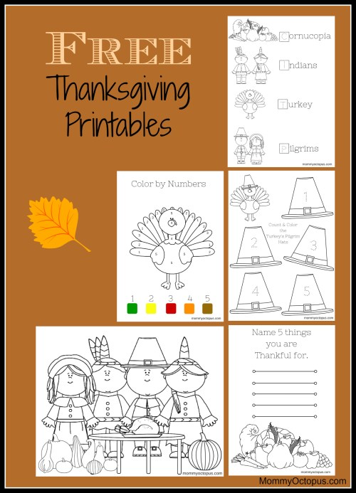small resolution of Free Thanksgiving Printable Activity Sheets! - Mommy Octopus