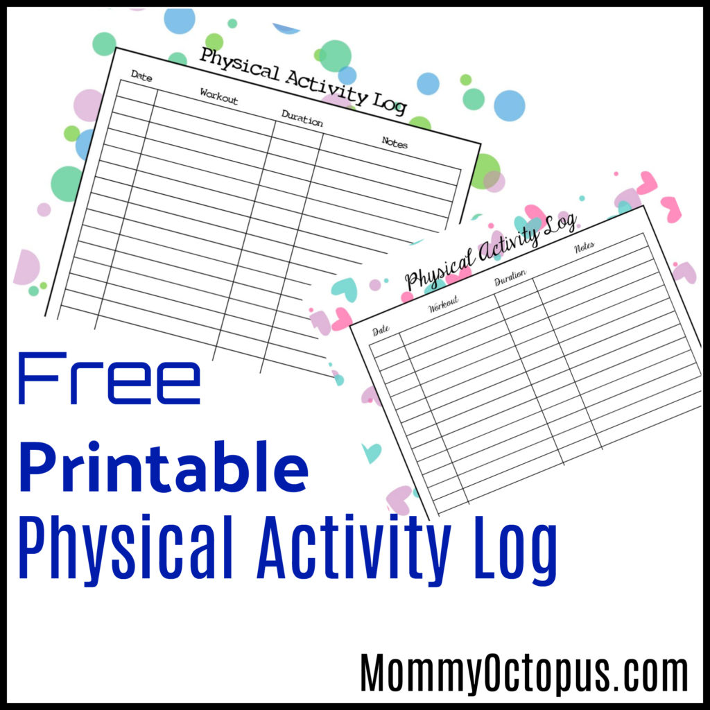 Free Printable Physical Activity Log