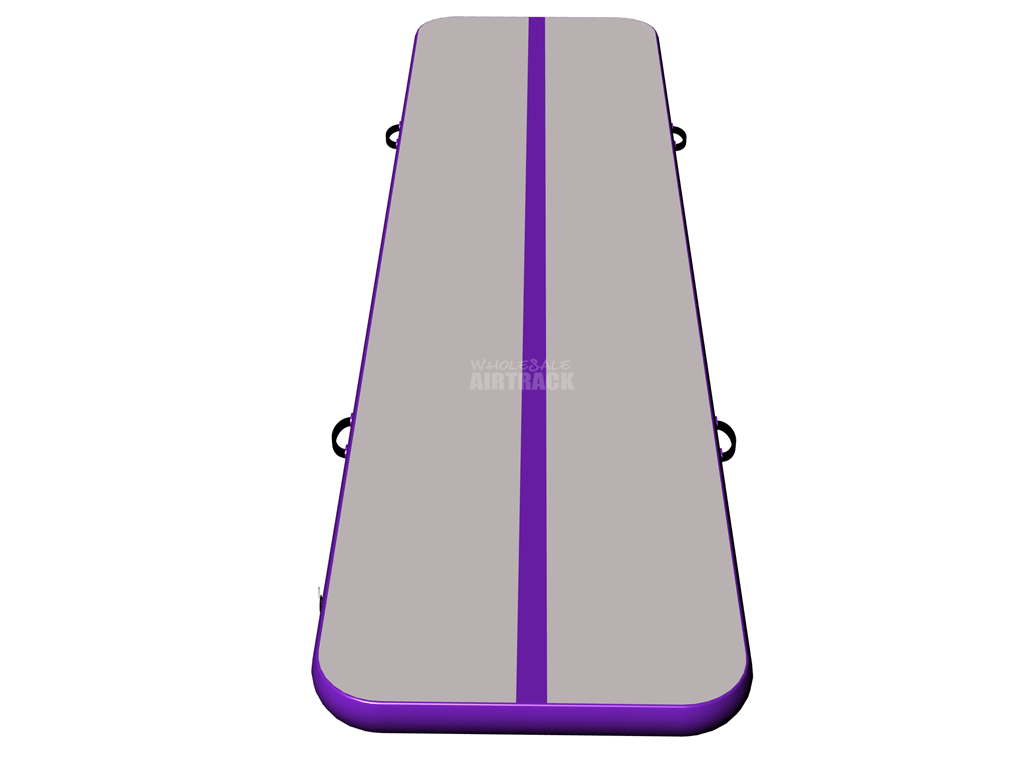 Factory outdoor games airtrackus gray surface purple side air mat for tumbling.png