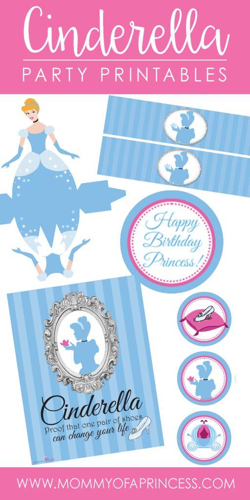 Free Cinderella Princess Party Printables