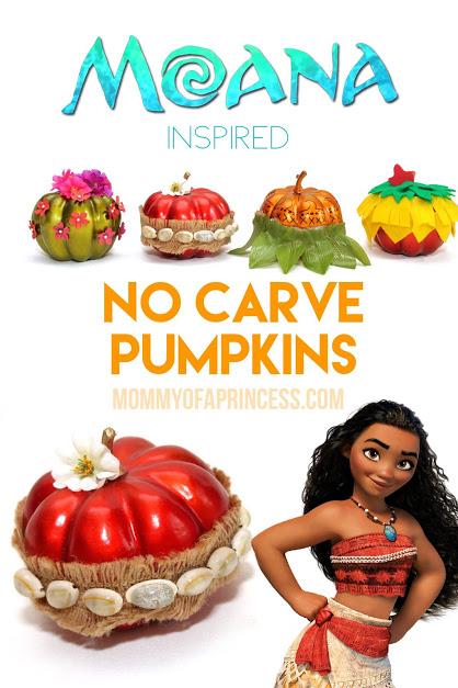 Pinterest No Carve Moana Pumpkins