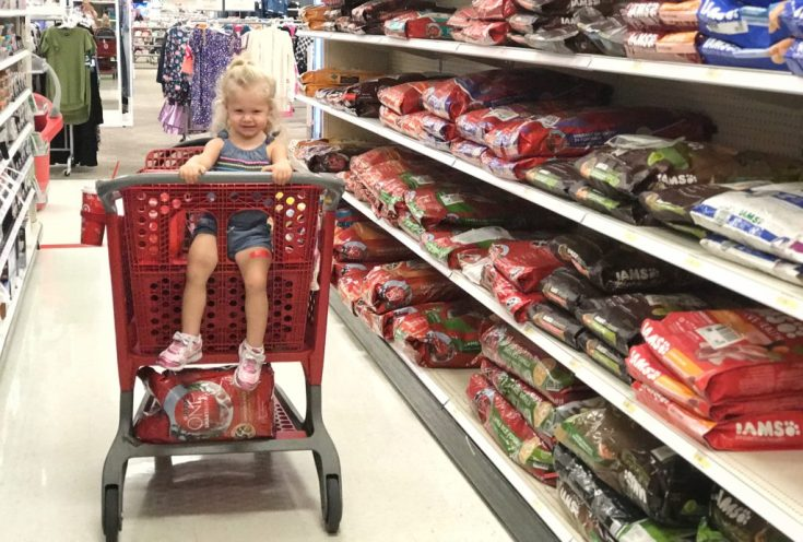 Giggles and Wiggles Shopping at Target