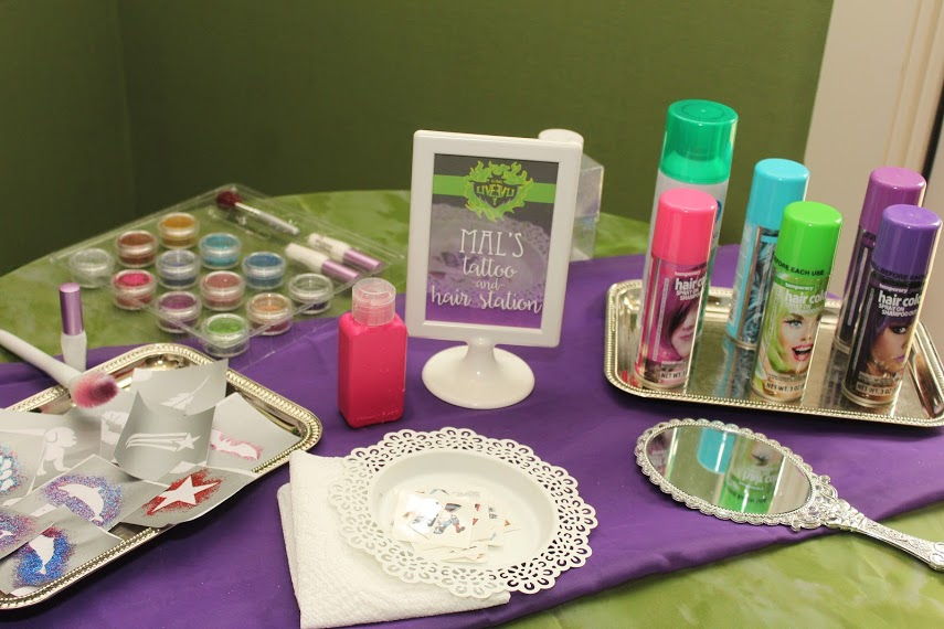 Mal's Tattoo and Hair Station Descendants Birthday Party Ideas