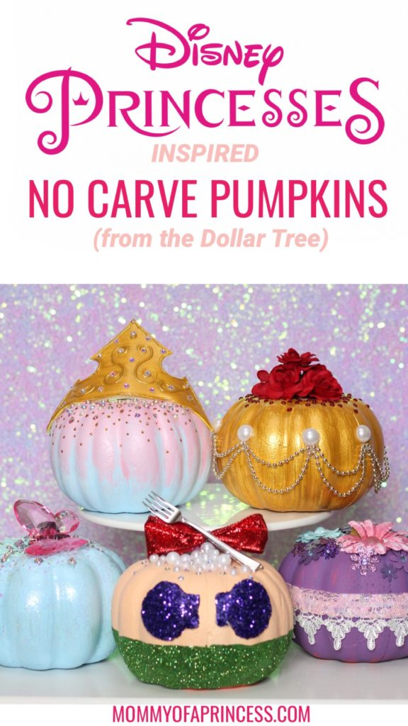 No Carve Disney Princess Pumpkins