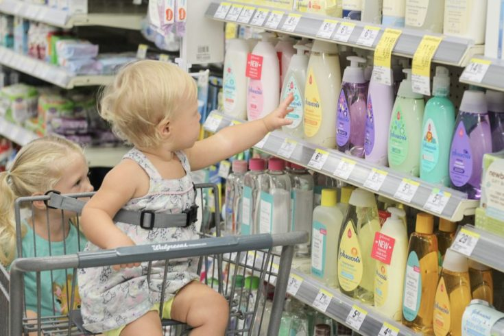 Shopping at Walgreens for Johnson's NEW Bath Products