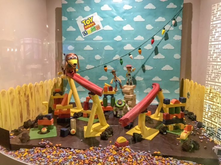 Chocolate Sculptures at Epcot Food & Wine Festival with kids