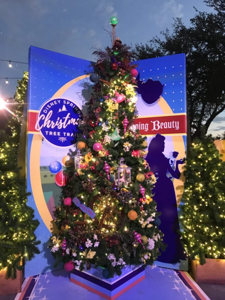 Sleeping Beauty Disney Christmas Tree Trail at Disney Springs