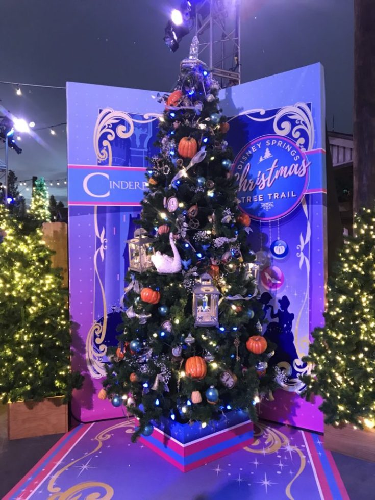 Cinderella Disney Christmas Tree Trail at Disney Springs