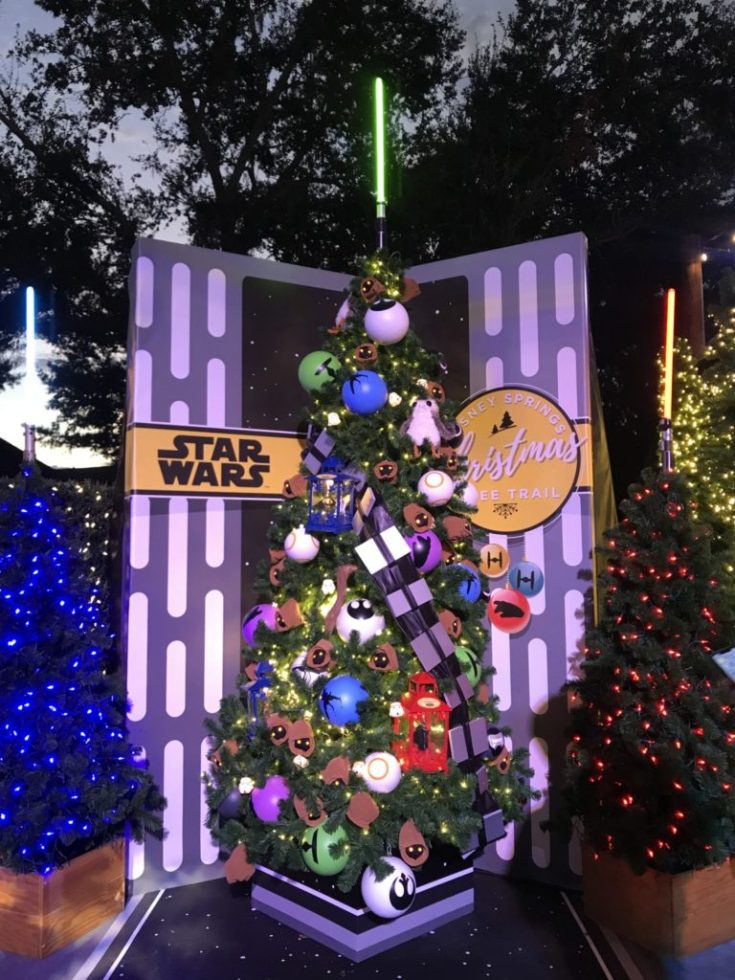 Star Wars Disney Christmas Tree Trail at Disney Springs