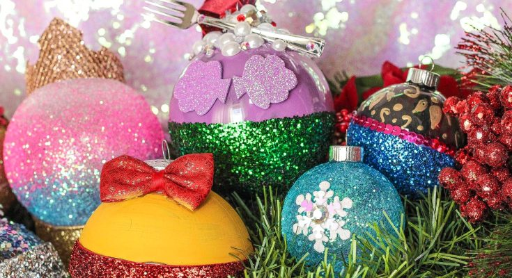 DIY Disney Princess Christmas Ornaments