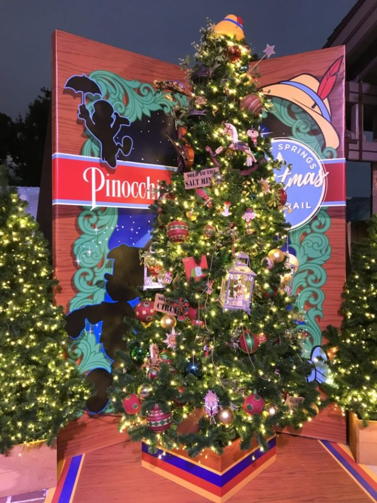Pinocchio Disney Christmas Tree Trail at Disney Springs