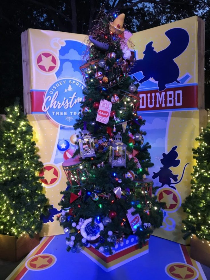 Dumbo Disney Christmas Tree Trail at Disney Springs