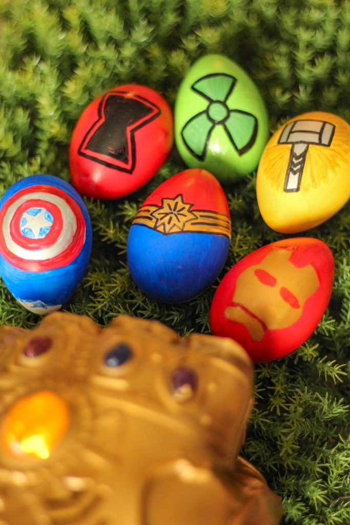 DIY Avengers Endgame Easter Eggs Craft Tutorial