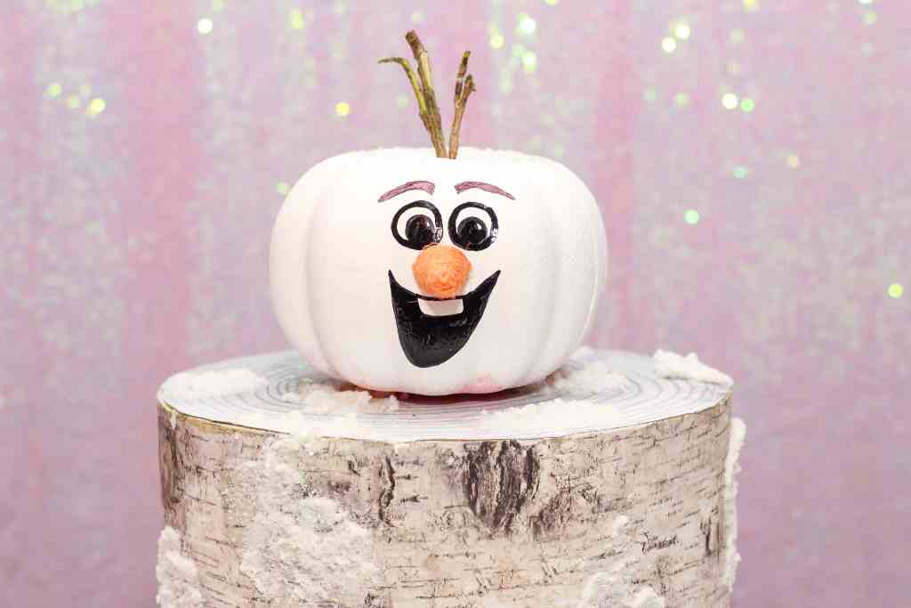 How to Make Olaf Frozen Pumpkin