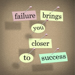 Failure Brings You Closer to Success Bulletin Board Saying