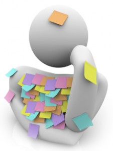 Person Trying to Remember - Sticky Notes