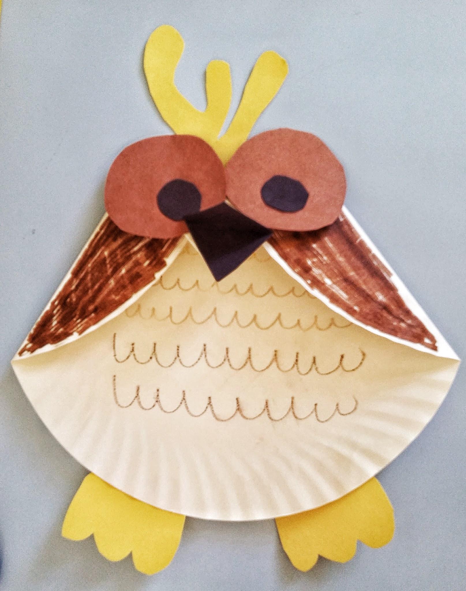 Fun Activities For Kids Paper Plate Owl Craft