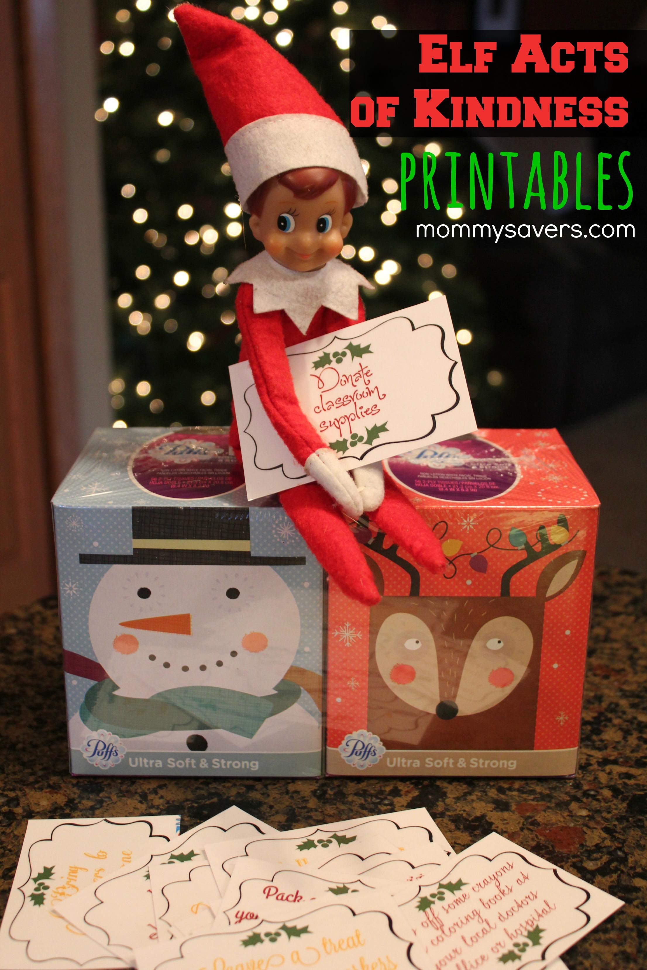 Elf On The Shelf Printables Random Acts Of Kindness