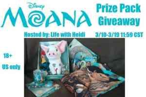 #Win a Moana Prize Pack (4 Winners) US Ends 3.19 @disneymoana #MoanaGiveaway