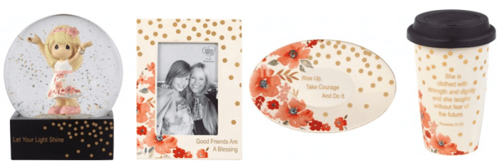 the new Precious Moments gifts from their Girlfriend Giving line available at Amazon.