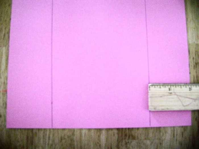 measuring cardstock with a ruler