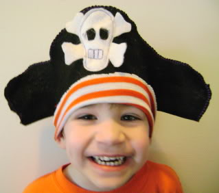 how to make a pirate hat tutorial