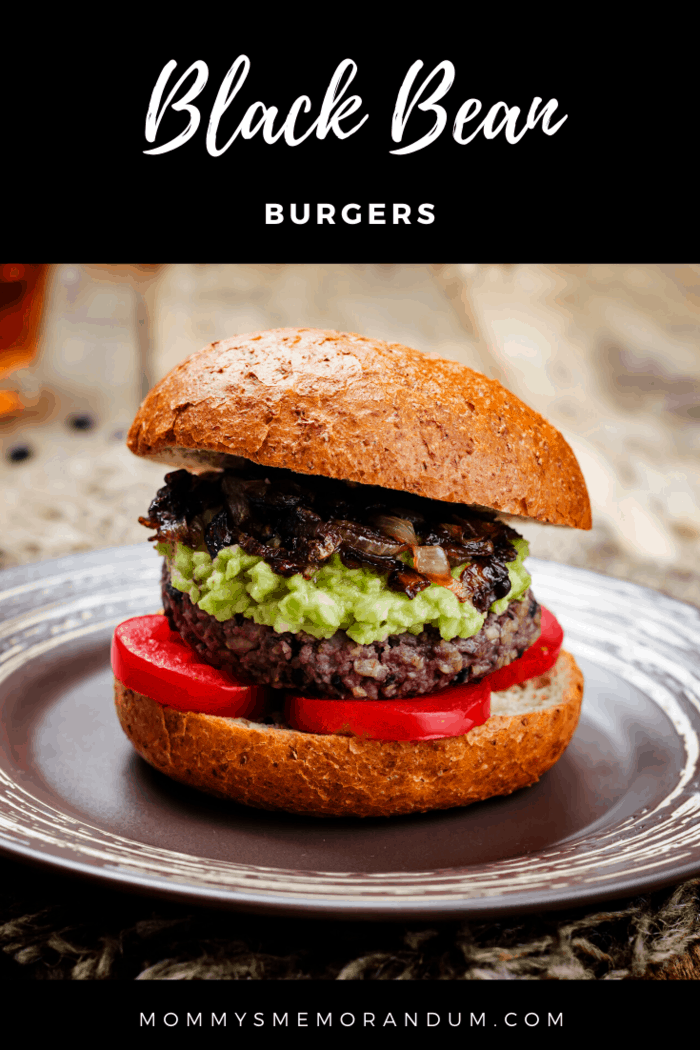 These black bean burgers are made with black beans and gussied up with spices.
