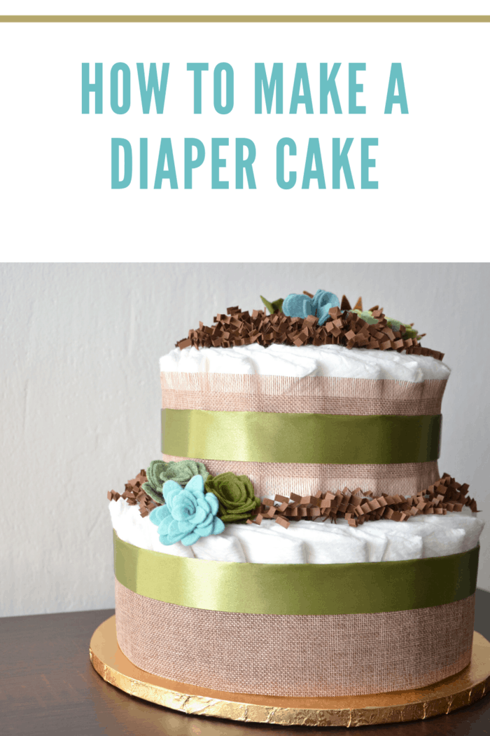 baby shower gift made from diapers