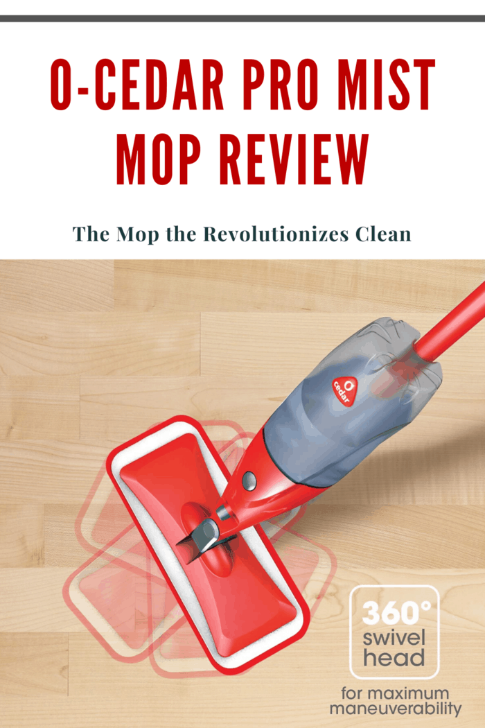 The O'Cedar Pro Mist Mop has a delightful swivel so I can gracefully enter the nooks and crannies of my kitchen without missing a beat!