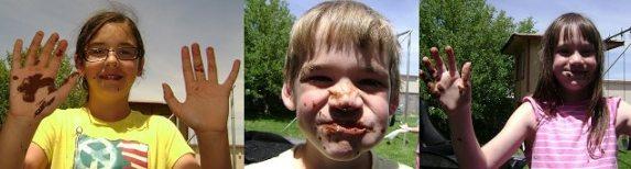 eating smores
