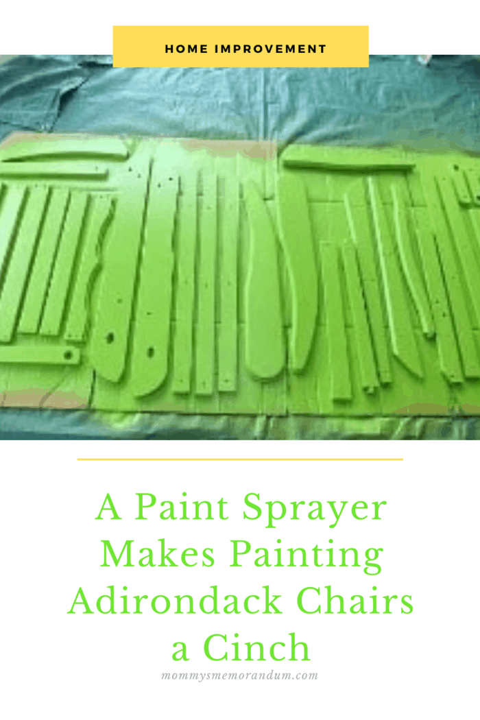 Painting with the sprayer was incredibly easy, and I was finished painting with the first side of the chair within a matter of minutes.