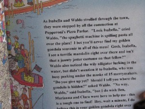 Where's Waldo? personalized text