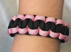 pink and black rescue band