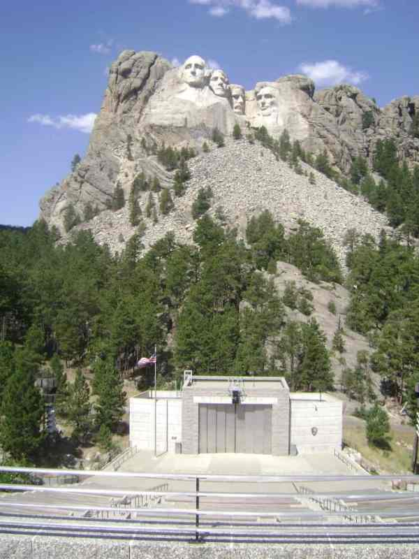 Mount Rushmore from the viewing area