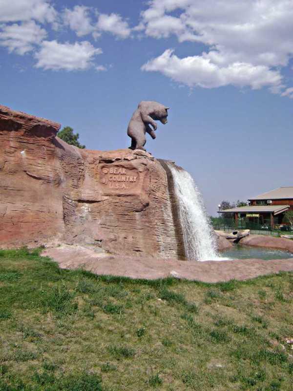 bear waterfall at Bear Country USa