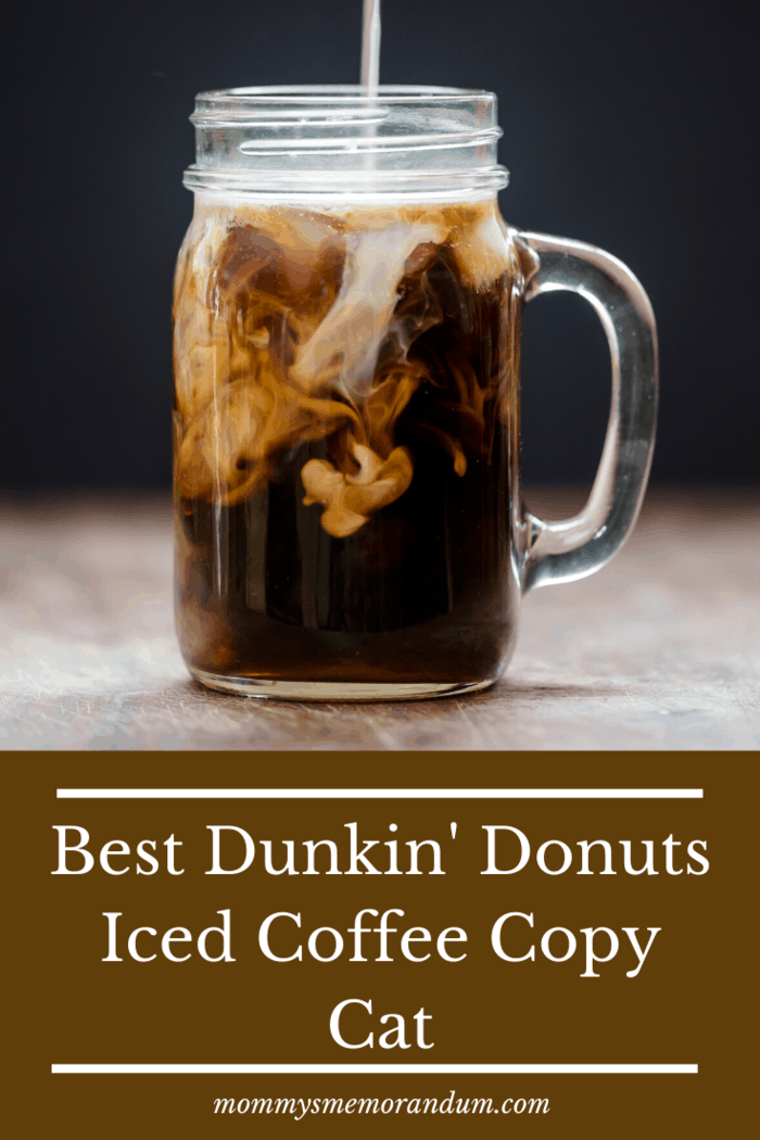 The dunkin donuts iced coffee recipe is easy, seriously tastes like the original and has endless possibilities.