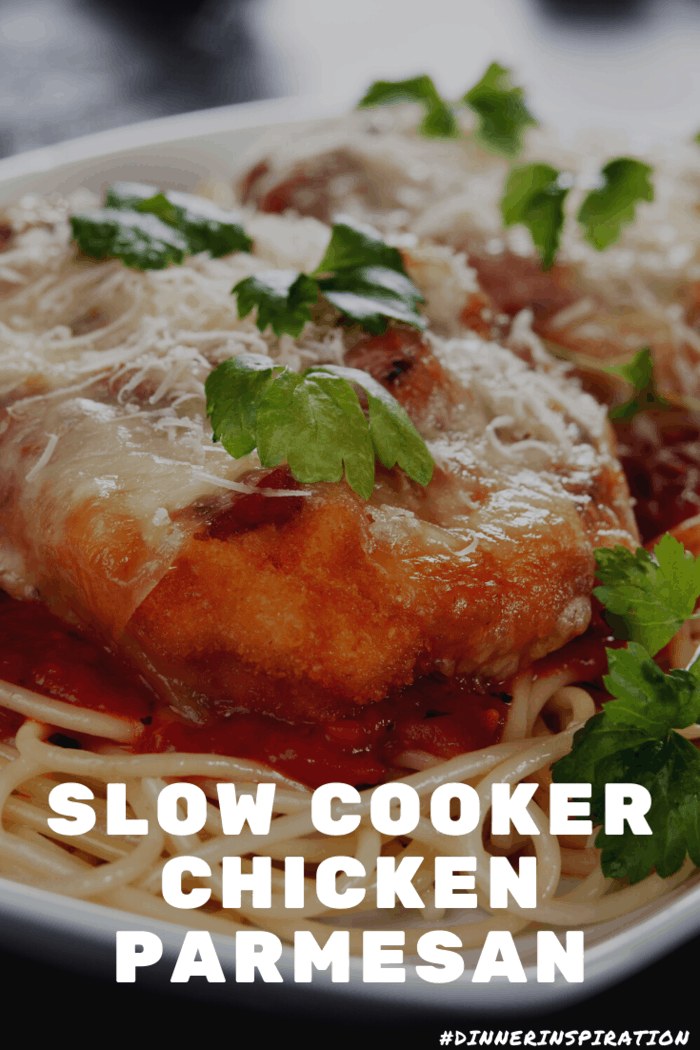 This easy slow cooker chicken parmesan is a medley of breaded chicken, warm tomato sauce and gooey cheese. It cooks in the slow cooker so it is effortless.