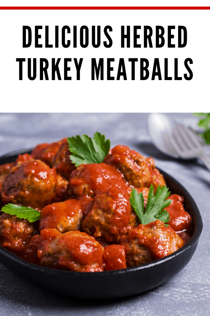 If you're looking for a lighter, leaner alternative to meatballs made with beef, this Herbed Turkey Meatballs recipe is a home run!