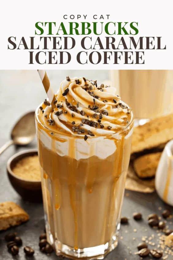 starbucks salted caramel mocha iced coffee