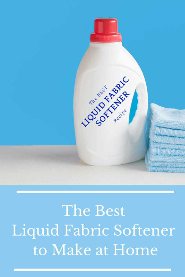 #DIY Homemade Fabric Softener in white bottle with label