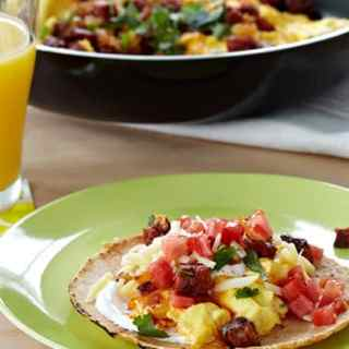 chorizo scrambled egg taco